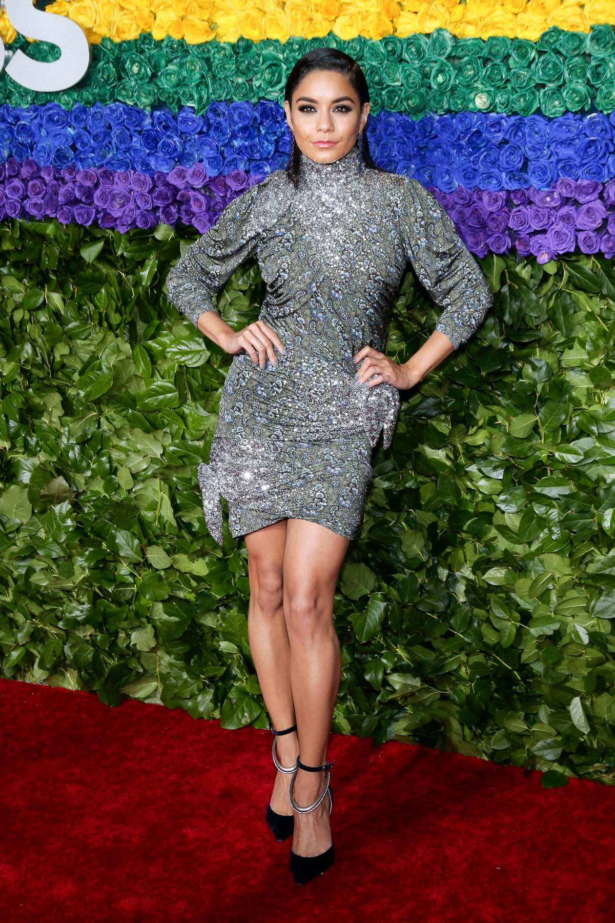 Vanessa Hudgens attends the 73rd annual Tony Awards at Radio City Music Hall in New York City