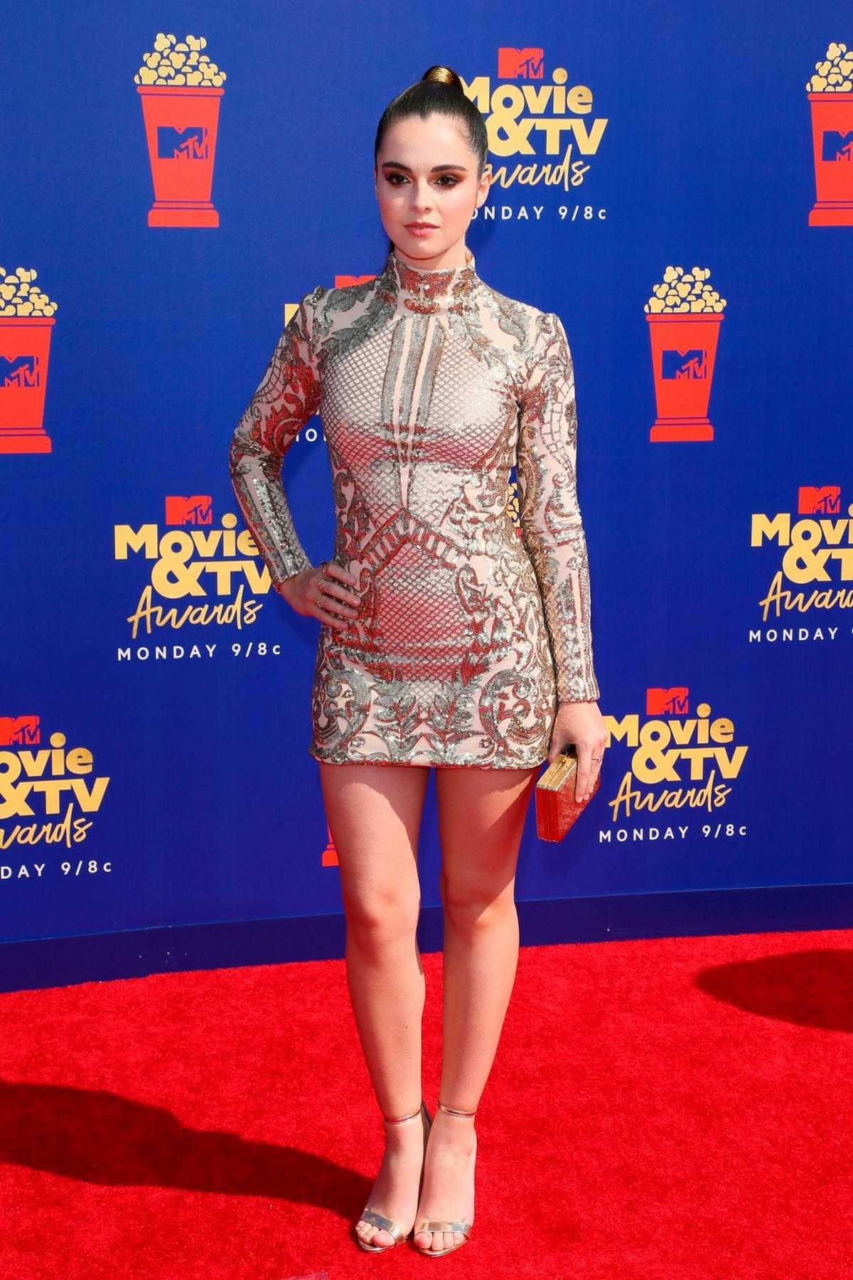 Vanessa Marano attends the 2019 MTV Movie and TV Awards at Barker Hangar in Santa Monica, California