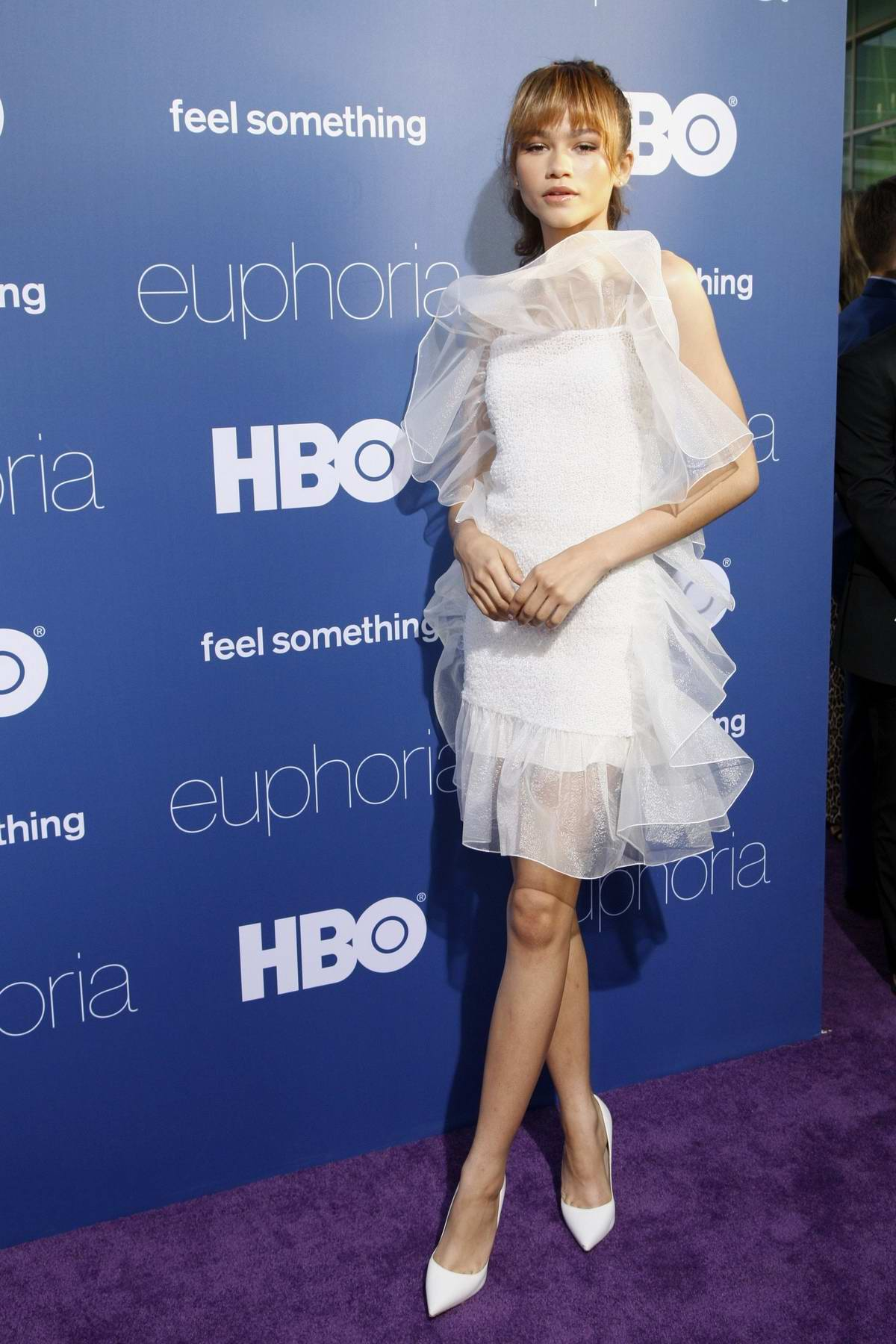 Zendaya attends the premiere Of HBO's 'Euphoria' at The Cinerama Dome in Los Angeles