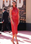 Adriana Lima attends the Los Angeles Premiere of 'Once Upon a Time in Hollywood' in Hollywood, California