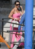 Adriana Lima looks pretty in pink as she steps out with Emir Uyar in Venice, Italy