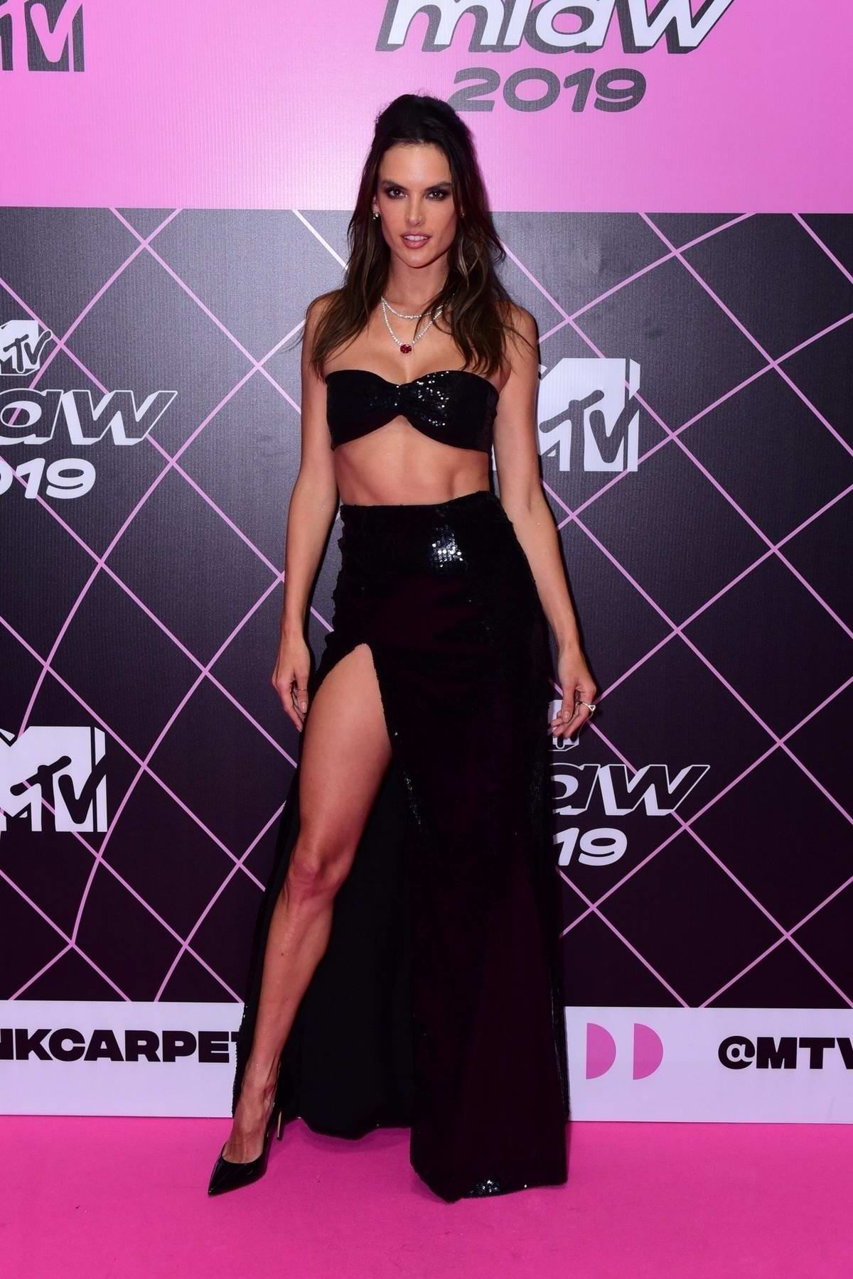 Alessandra Ambrosio attends the 2019 MTV Millennial Awards in Sao Paulo, Brazil