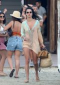 Alessandra Ambrosio stepped out at the beach with her friends while on vacation in Mykonos, Greece