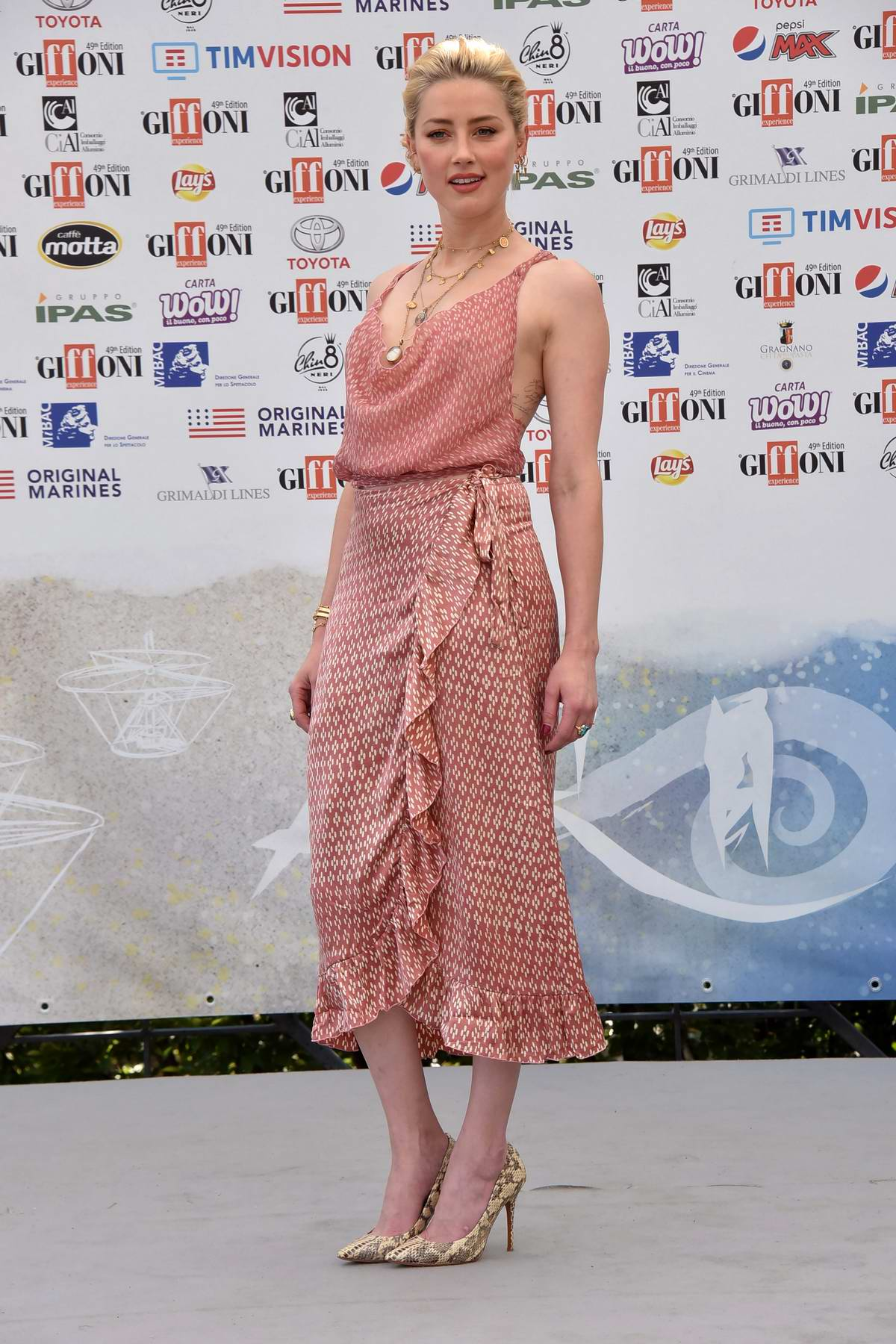 Amber Heard attends the Blue Carpet at 2019 Giffoni Valle Piana Film Festival in Salerno, Italy