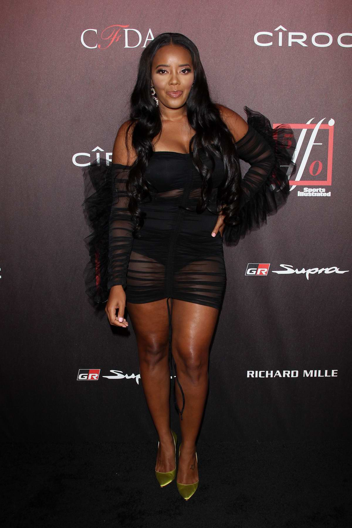 Angela Simmons attends the 4th Annual Sports Illustrated Fashionable 50 Party in Los Angeles