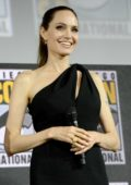 Angelina Jolie attends the 'Marvel' panel during 2019 Comic-Con International in San Diego, California