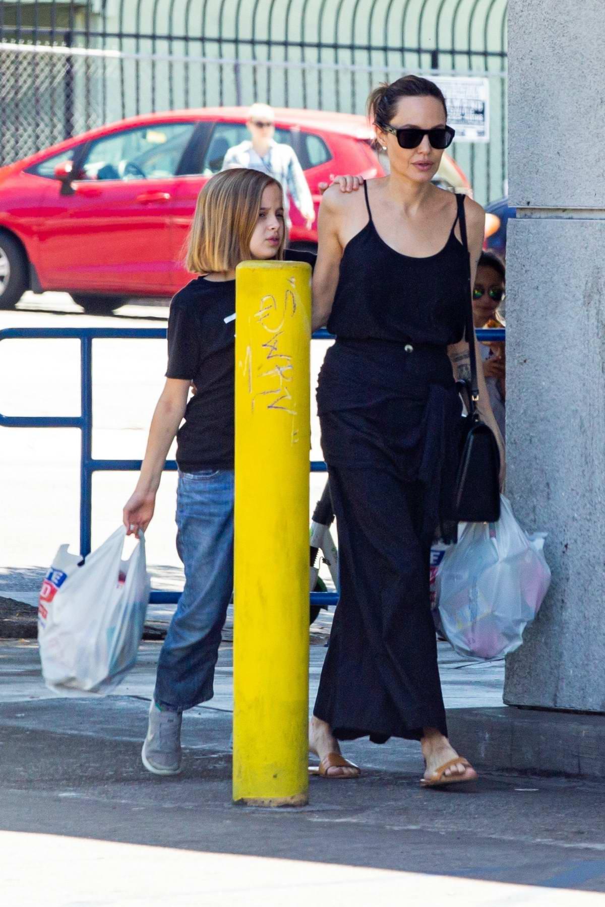 Angelina Jolie spotted leaving Rite Aid with daughter Vivienne in Los Feliz, California