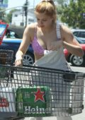 Ariel Winter stocks up on a lot of booze for 4th July in Los Angeles