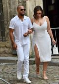 Ashley Graham arrives at Hotel La Mirande while attending Sophie Turner and Joe Jonas wedding in Avignon, France