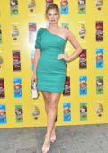 Ashley James attends the 'M&M's Get Stuck In Launch Event at the M&M World Store in London, UK