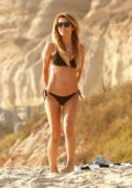 Audrina Patridge seen wearing a bikini while enjoying a day at Laguna Beach, California