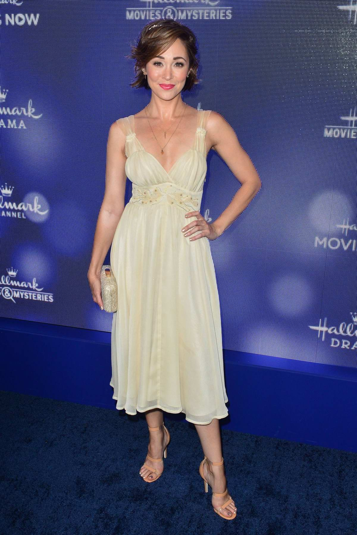 Autumn Reeser attends Hallmark Movies & Mysteries Summer TCA Press Tour Event in Beverly Hills, Los Angeles