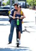 Bailee Madison packs on some PDA with boyfriend Blake Richardson while out on a date in Marina Del Rey, California