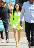 Becky G stands out in neon green ensemble while out in New York City