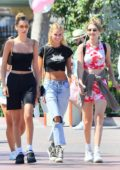 Bella and Gigi Hadid celebrate Leah McCarthy's birthday at Disneyland in Anaheim, California