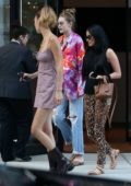 Bella and Gigi Hadid step out for dinner with Kacey Musgraves in New York City