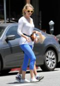 Bethany Joy Lenz enjoys fresh donuts while out with her daughter in Studio City, Los Angeles