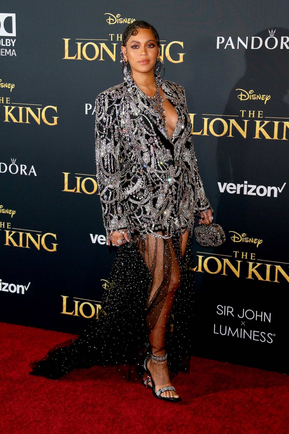 Beyoncé attends the premiere of Disney's 'The Lion King' at Dolby Theatre in Hollywood, California