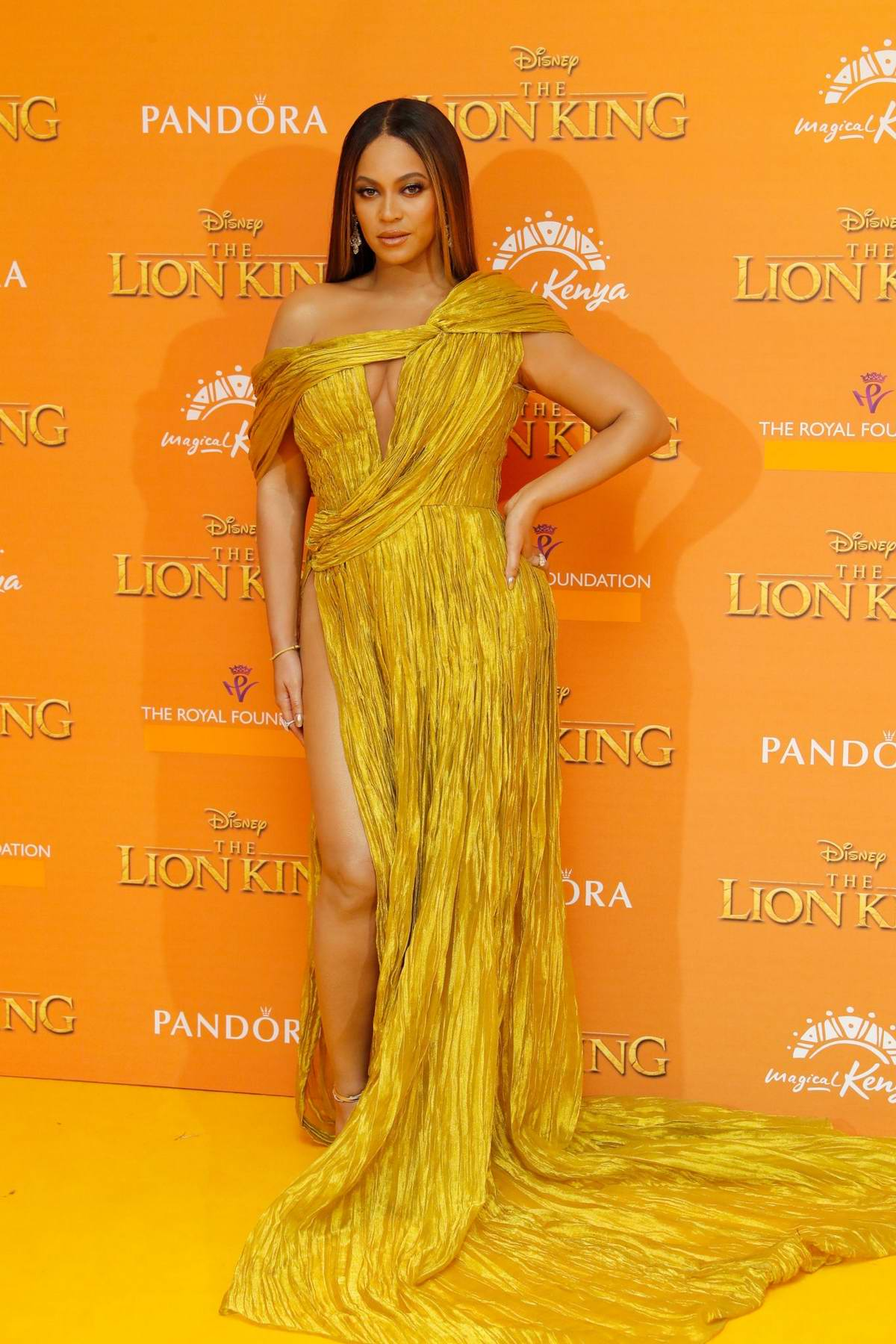 Beyonce attends the European Premiere of Disney's 'The Lion King' European in Leicester Square, London, UK