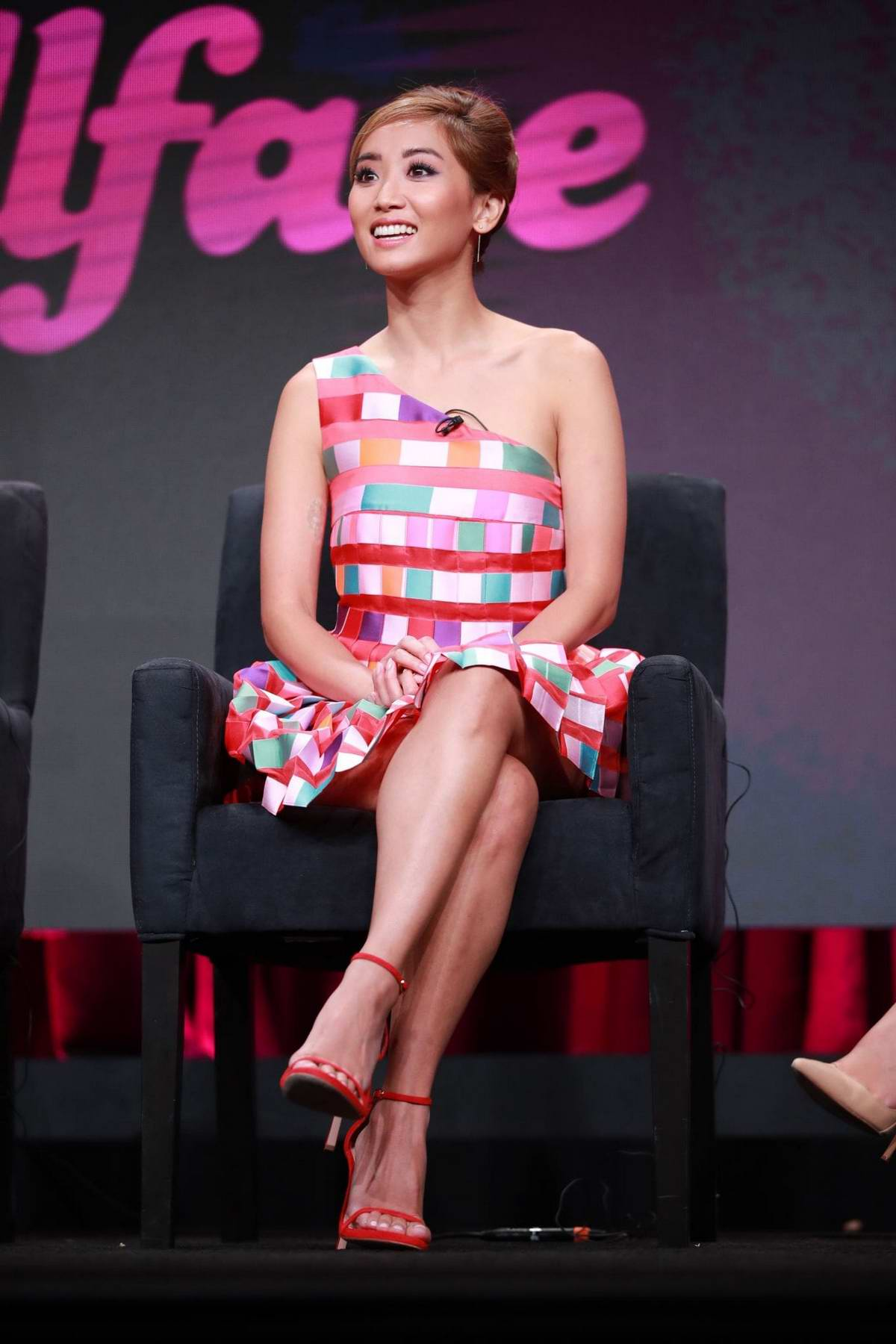 Brenda Song attends 'Dollface' Panel during Hulu TCA Summer Press Tour at The Beverly Hilton Hotel in Beverly Hills, Los Angeles