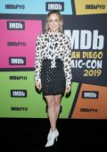 Caity Lotz attends the #IMDboat at the IMDb Yacht during Day Two of 2019 Comic-Con International in San Diego, California