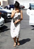 Camila Cabello steps out in a cute dress for an outing at Epione Skin Care clinic in Los Angeles