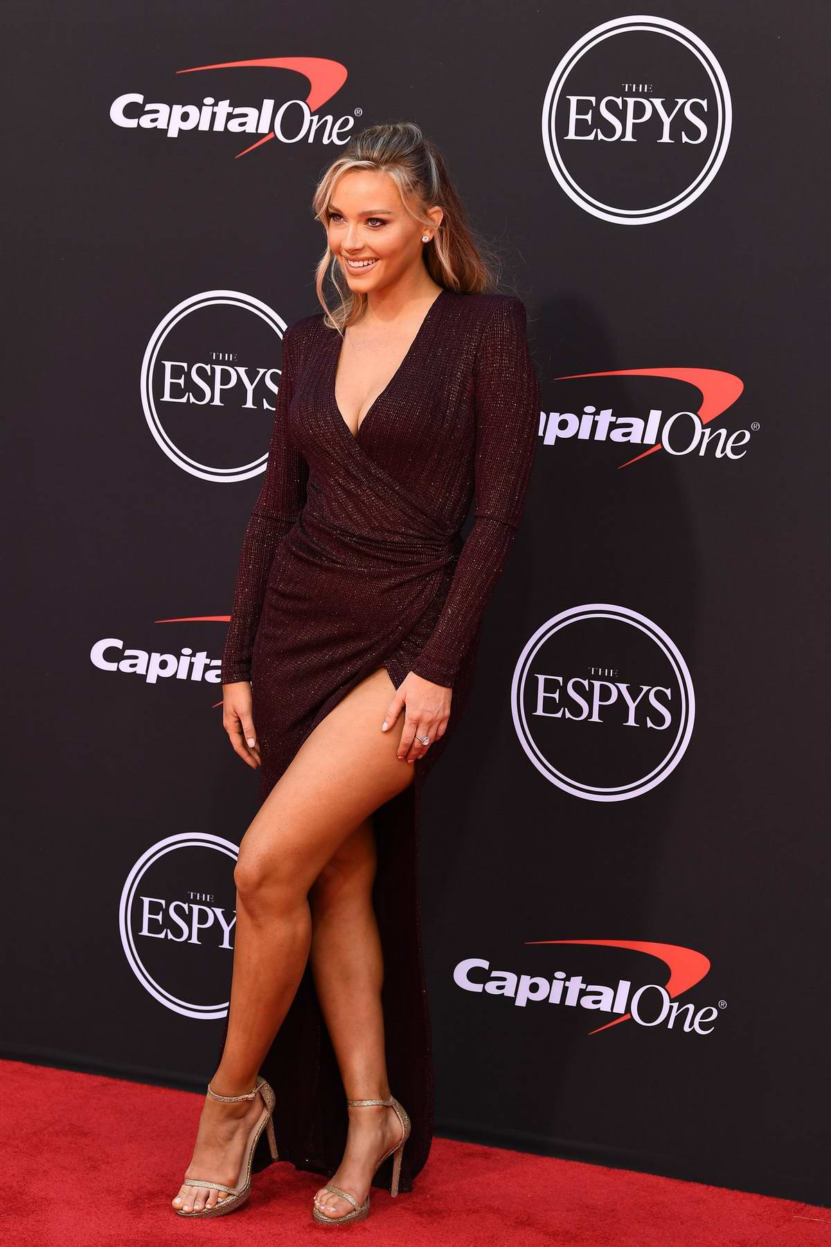 Camille Kostek attends the 2019 ESPY Awards at the Microsoft Theatre in Los Angeles