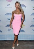 Camille Kostek attends the 2019 Sports Illustrated Swimsuit Runway Show during Miami Swim Week in Miami, Florida