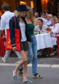 Cara Delevigne and Ashley Benson step out for a stroll while on vacation in Saint-Tropez, France