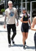 Chantel Jeffries steps out for lunch with Machine Gun Kelly at Toast Bakery Cafe in West Hollywood, Los Angeles