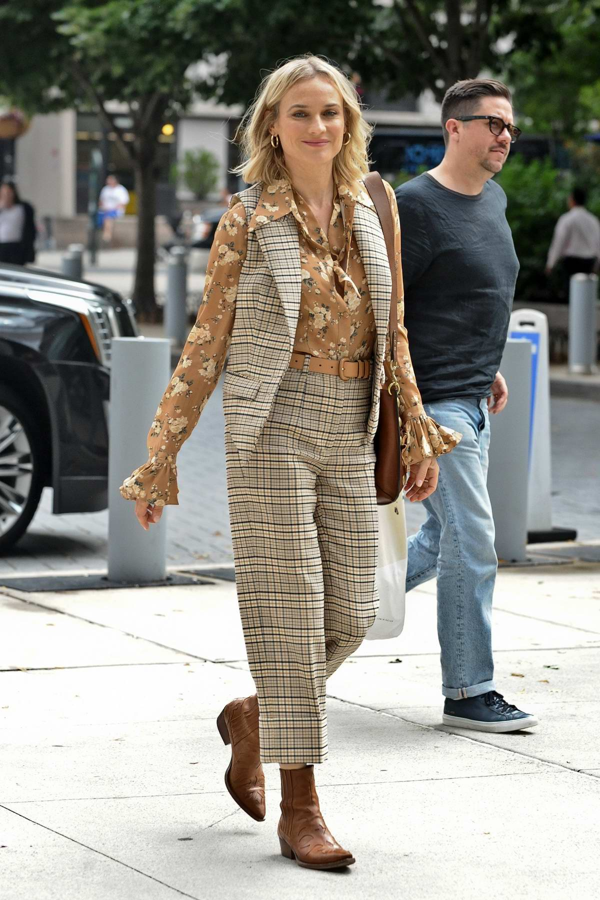 Diane Kruger sports a retro look while visiting Build Series in New York City