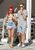 Dianne Buswell and Joe Sug enjoy some ice cream during their vacation on Mykonos Island, Greece
