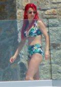 Dianne Buswell enjoys the sun in a bikini while on vacation with Joe Sugg in Mykonos, Greece