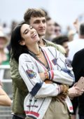 Dua Lipa and Anwar Hadid get cozy at the British Summer Time Hyde Park concert in London, UK