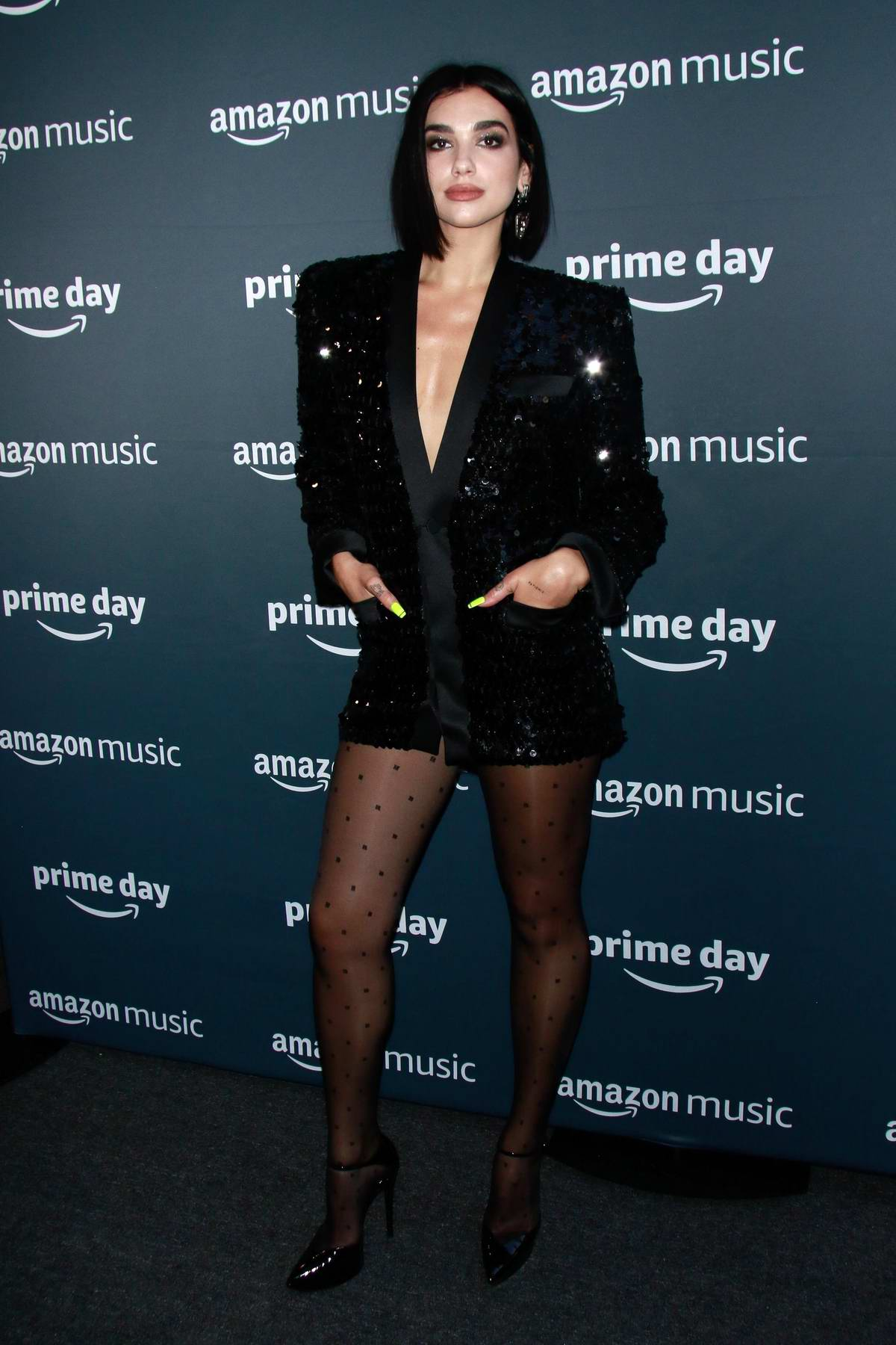 Dua Lipa attends the Amazon's Prime Day Concert at Hammerstein Ballroom in New York City
