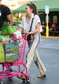 Elizabeth Olsen goes shopping for groceries at Whole Foods in Sherman Oaks, California