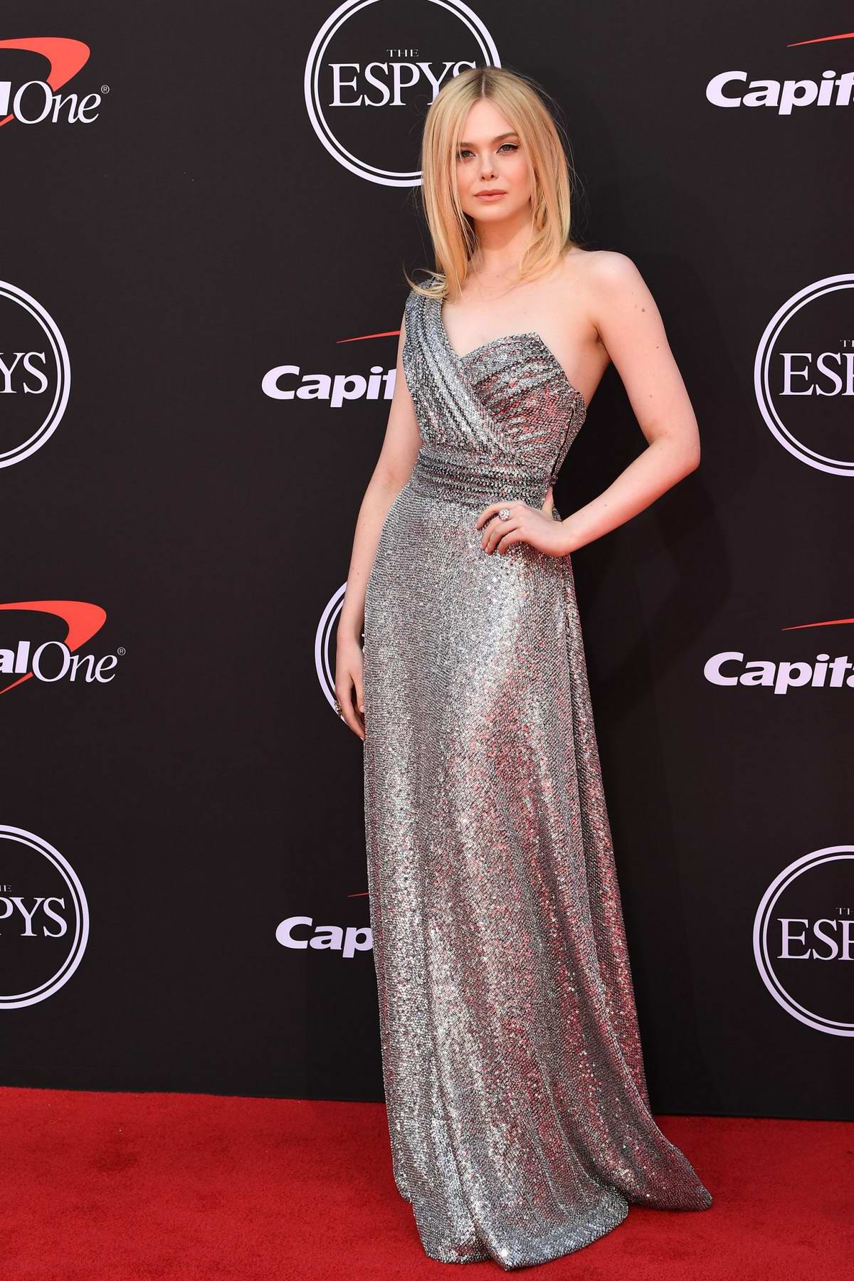 Elle Fanning attends the 2019 ESPY Awards at the Microsoft Theatre in Los Angeles