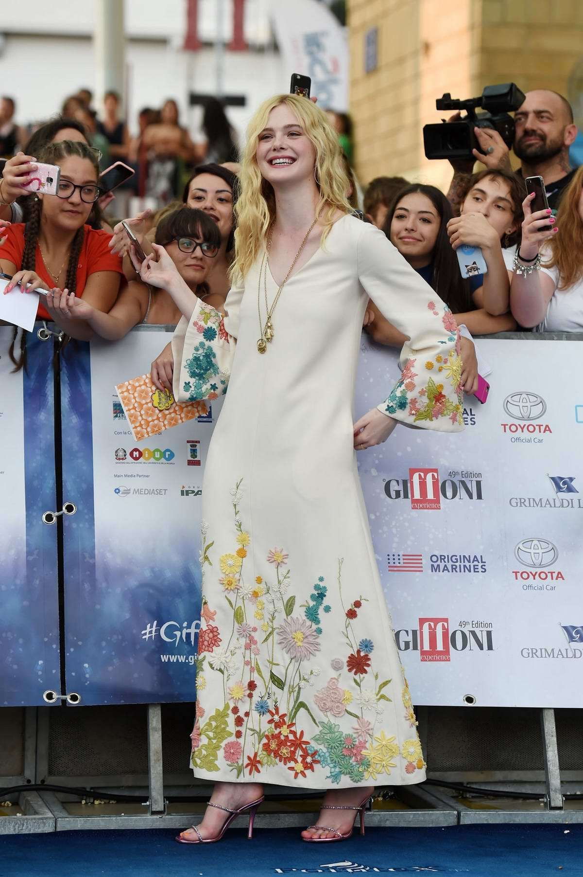 Elle Fanning attends the 2019 Giffoni Film Festival, Day 4 in Giffoni Valle Piana, Italy