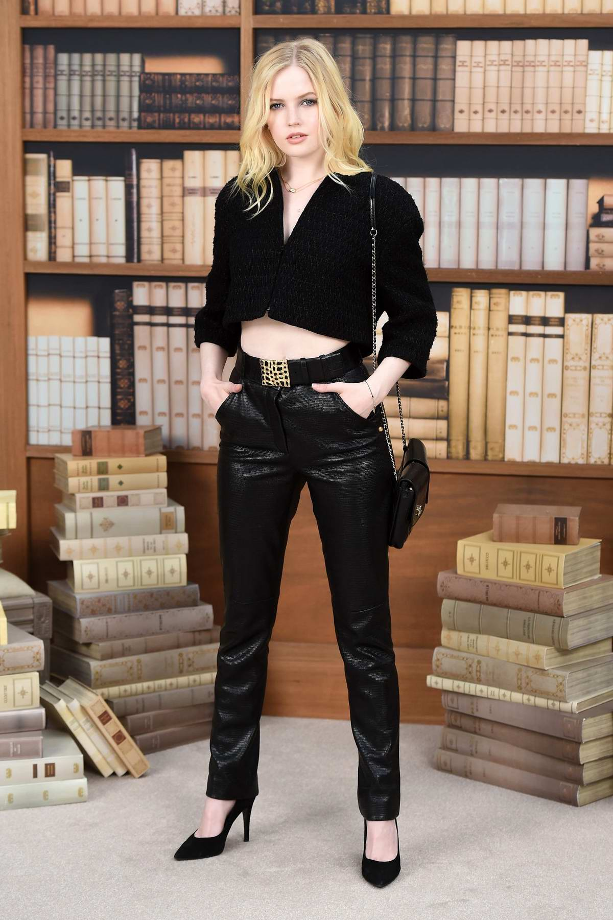 Ellie Bamber attends the Chanel Show, Haute Couture Fall/Winter 2019/20 during Paris Fashion Week in Paris, France