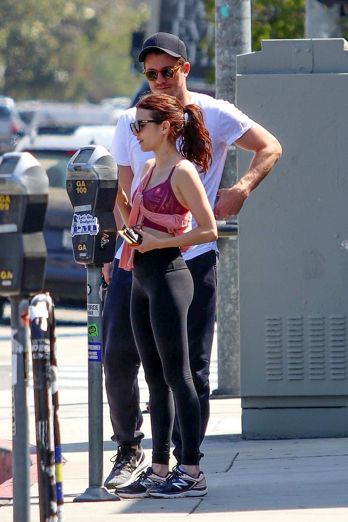 Emma Roberts and Garrett Hedlund seen leaving the gym ...