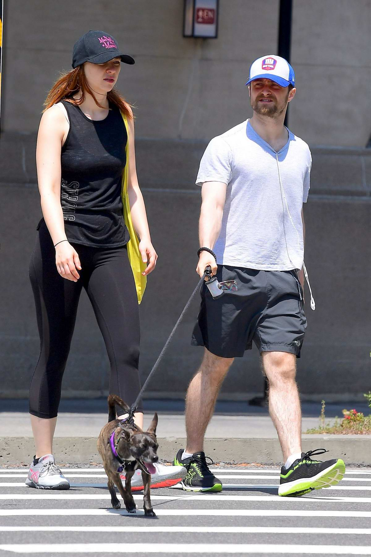 Erin Darke and Daniel Radcliffe stepped out for a stroll with their dog in New York City