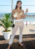 Eva Gutowski attends Instagram's 3rd Annual Instabeach Party in Pacific Palisades, California
