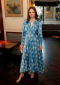 Felicity Jones attends the #MOVINGLOVE dinner hosted by Felicity Jones, Derek Blasberg & Katie Grand at Bellanger in London, UK