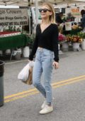 Genevieve Hannelius keeps it casual while out shopping at the Farmer's Market in Studio City, Los Angeles
