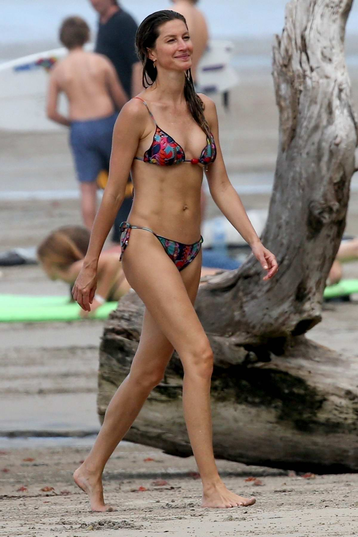 Gisele Bundchen looks incredible in a colorful bikini while enjoying the beach with Tom Brady in Costa Rica