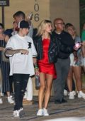 Hailey Baldwin and Justin Bieber seen leaving after a dinner date at Nobu in Malibu, California