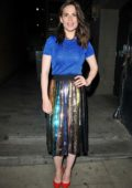 Hayley Atwell spotted as she departs after her performance in 'Rosmersholm' at Duke of York's Theatre in London, UK