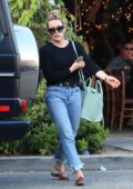 Hilary Duff grabs lunch at Il Pastaio in Beverly Hills, Los Angeles