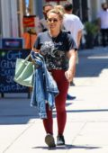 Hilary Duff steps out for some shopping donning workout clothes in Studio City, Los Angeles