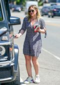 Hilary Duff stops for a cold beverage while shopping in Studio City, Los Angeles